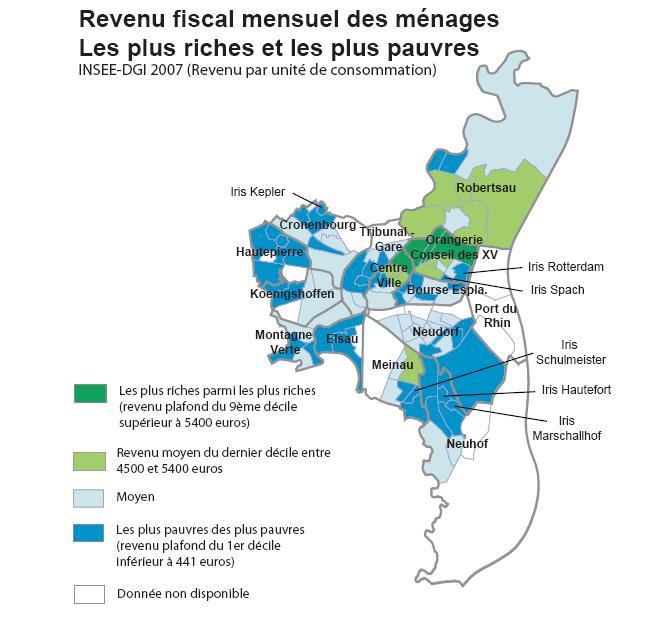 Les inégalités de revenus à Strasbourg