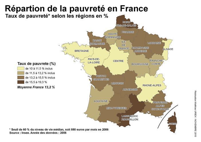 Répartition de la pauvreté en France